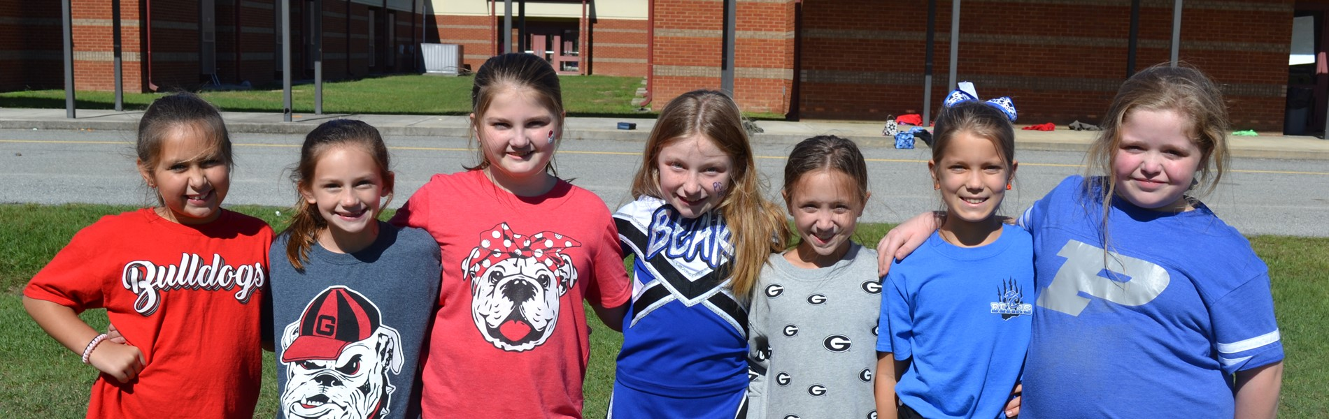 4th graders at PBIS tailgate